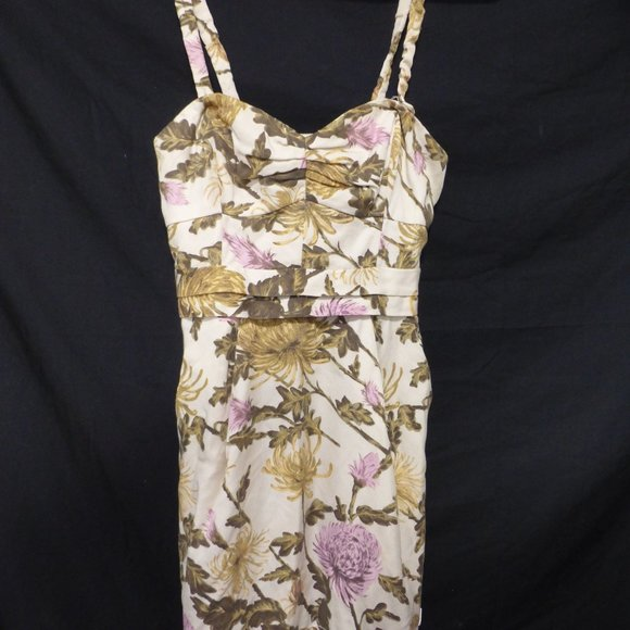 WILFRED, size 2, floral spaghetti strap dress